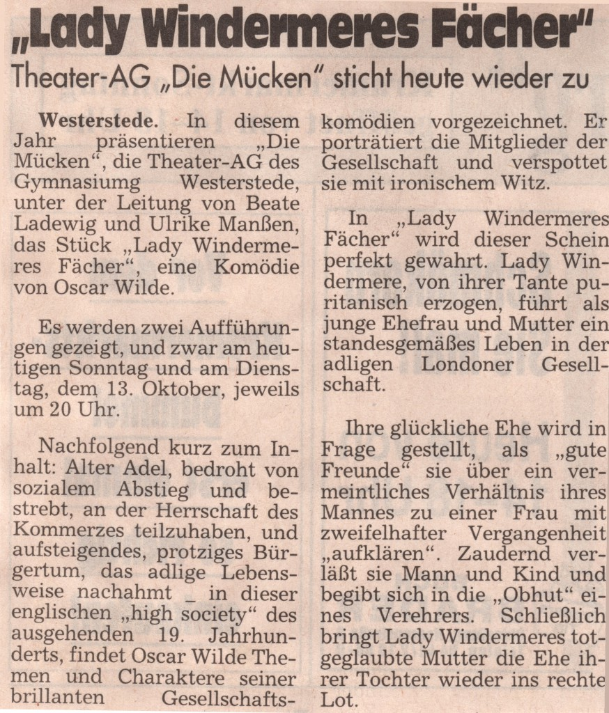1998  11.10.  Sonntagszeitung Ankündigung -1