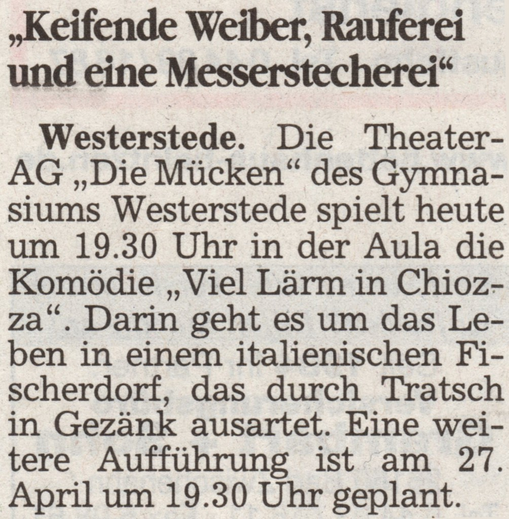 2004  25.04. Sonntagszeitung Ankündigung